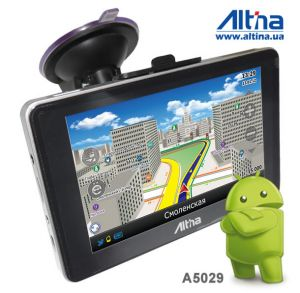 Автомобильный GPS навигатор Altina A5029 на базе Android 4.0.4 (Ice Cream Sandwich)