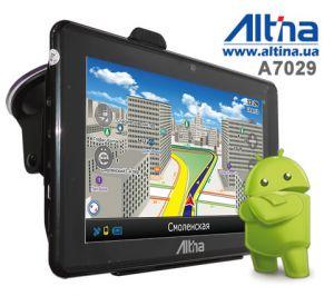 Автомобильный GPS навигатор Altina A7029 на базе Android 4.0.4 с DVR